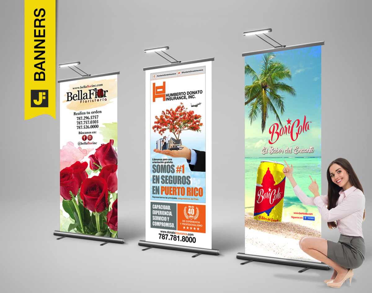 PullUp Banner, Stand Bannners, Cruzacalles, Sign Banners